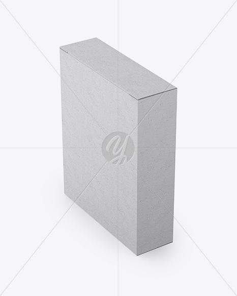 Kraft Box Mockup - Half Side View