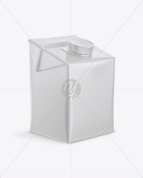 500ml Carton Box Mockup - Half Side View