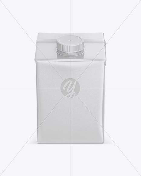 500ml Carton Box Mockup - Front View