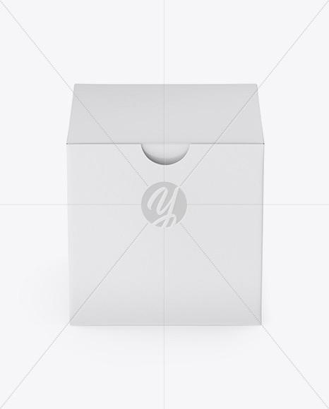Paper Box Mockup - Front View (High-Angle Shot)