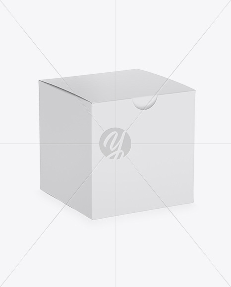 Paper Box Mockup - Half Side View (High-Angle Shot)