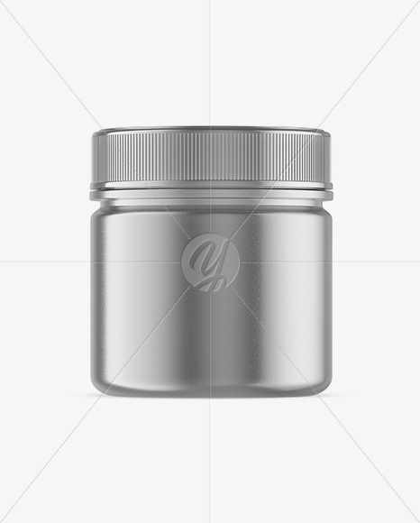 Metallic Jar Mockup - Front View