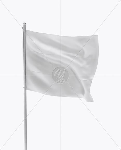 Flag Mockup - Half Side View