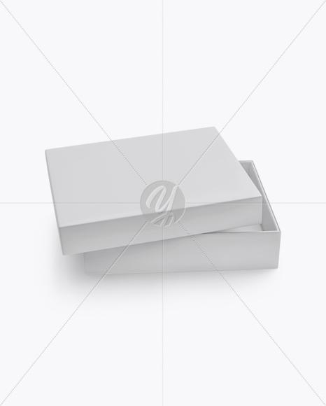 Opened Matte Box Mockup (High-Angle Shot)