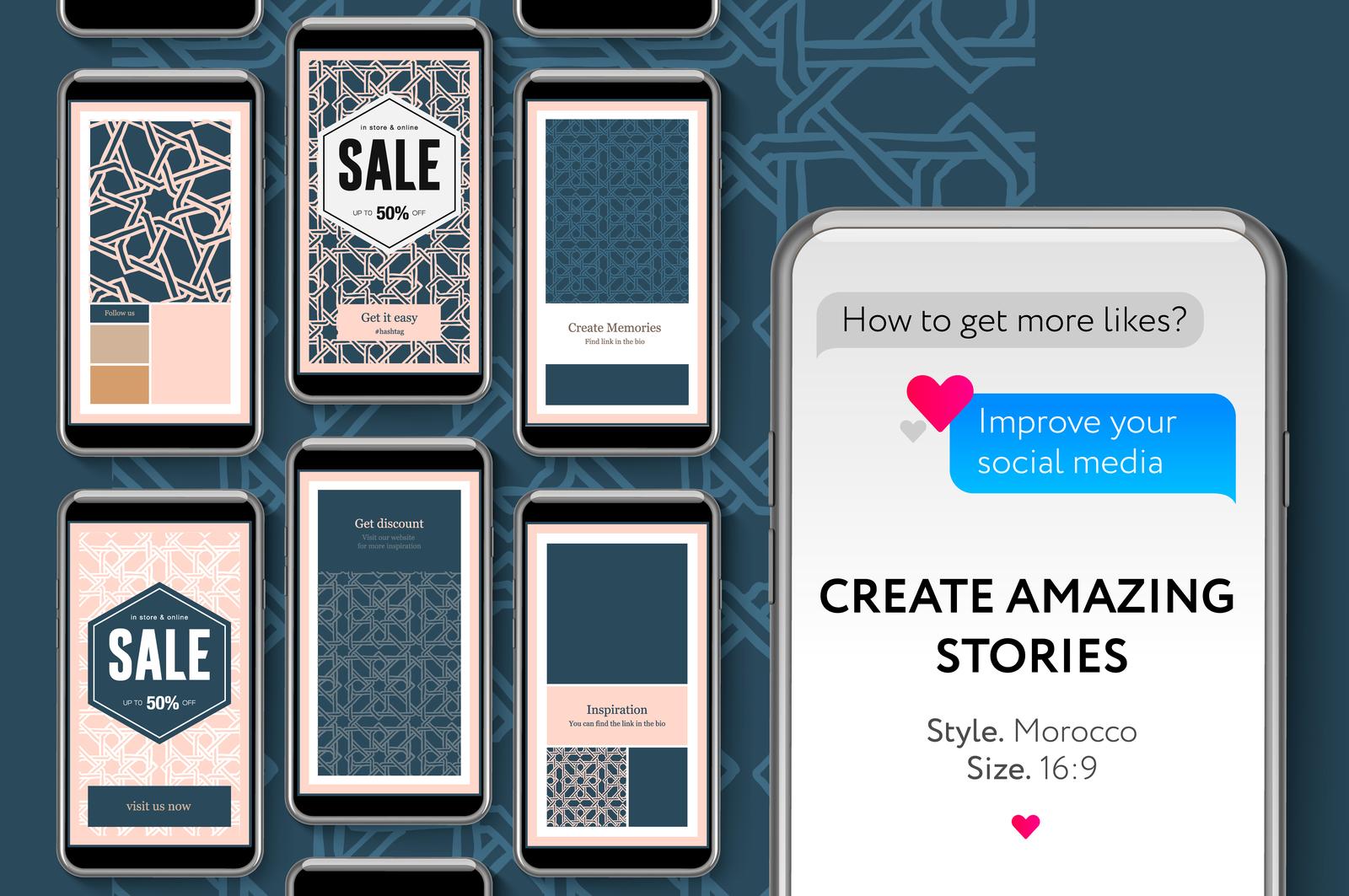 Social Media Story Templates For Brands And Blogger In Social Media