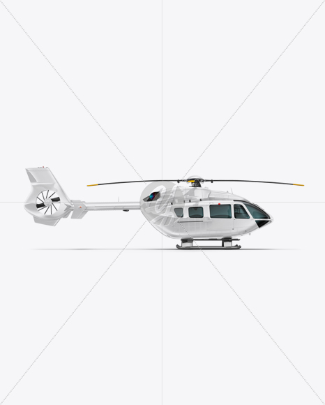 Helicopter Mockup - Side view
