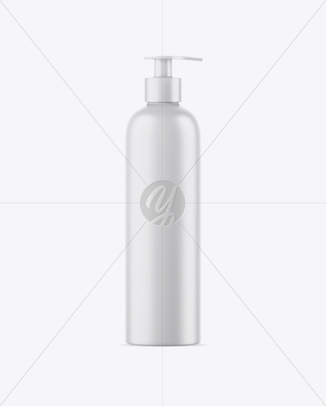 Matte Shower Gel Bottle Mockup