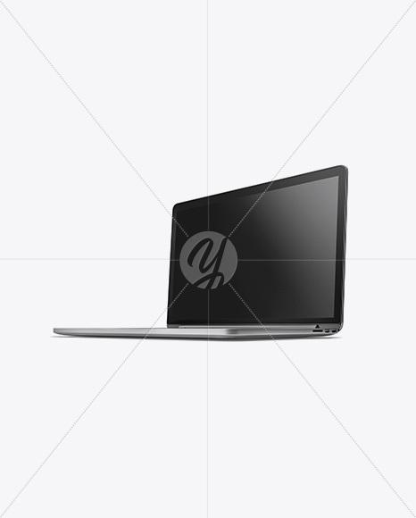 Macbook Mockup - Half Side View