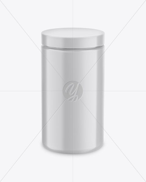 Glossy Jar Mockup - Front View (High Angle Shot)