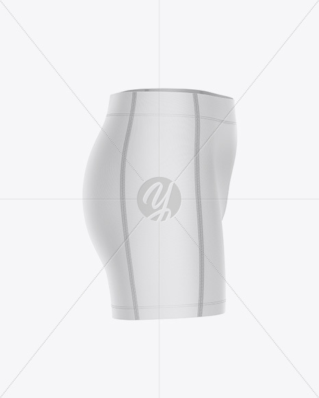 Women`s Volleyball Shorts Mockup - Side View