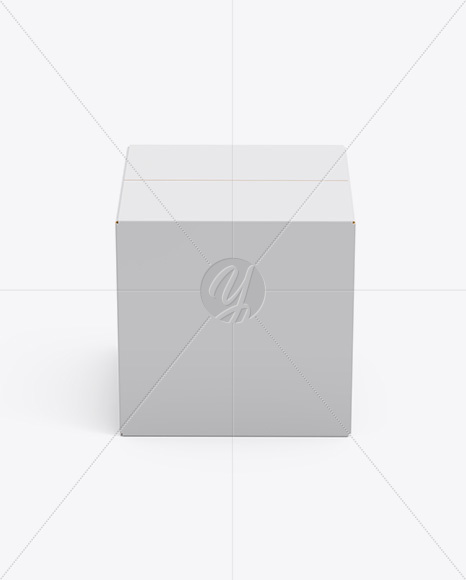 Paper Box Mockup - Side View (High-Angle Shot)