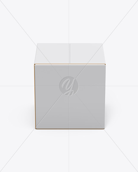 Paper Box Mockup - Front View (High-Angle Shot)