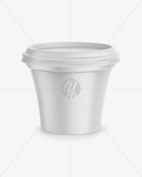 Plastic Matte Cup Mockup - Front View (High-Angle Shot)