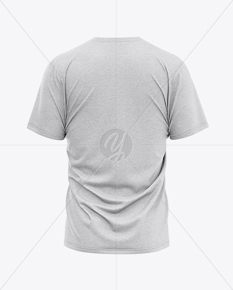 Men's Heather Loose Fit T-Shirt - Back View