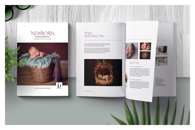 Newborn Photography Magazine Template in Magazine Templates on ...