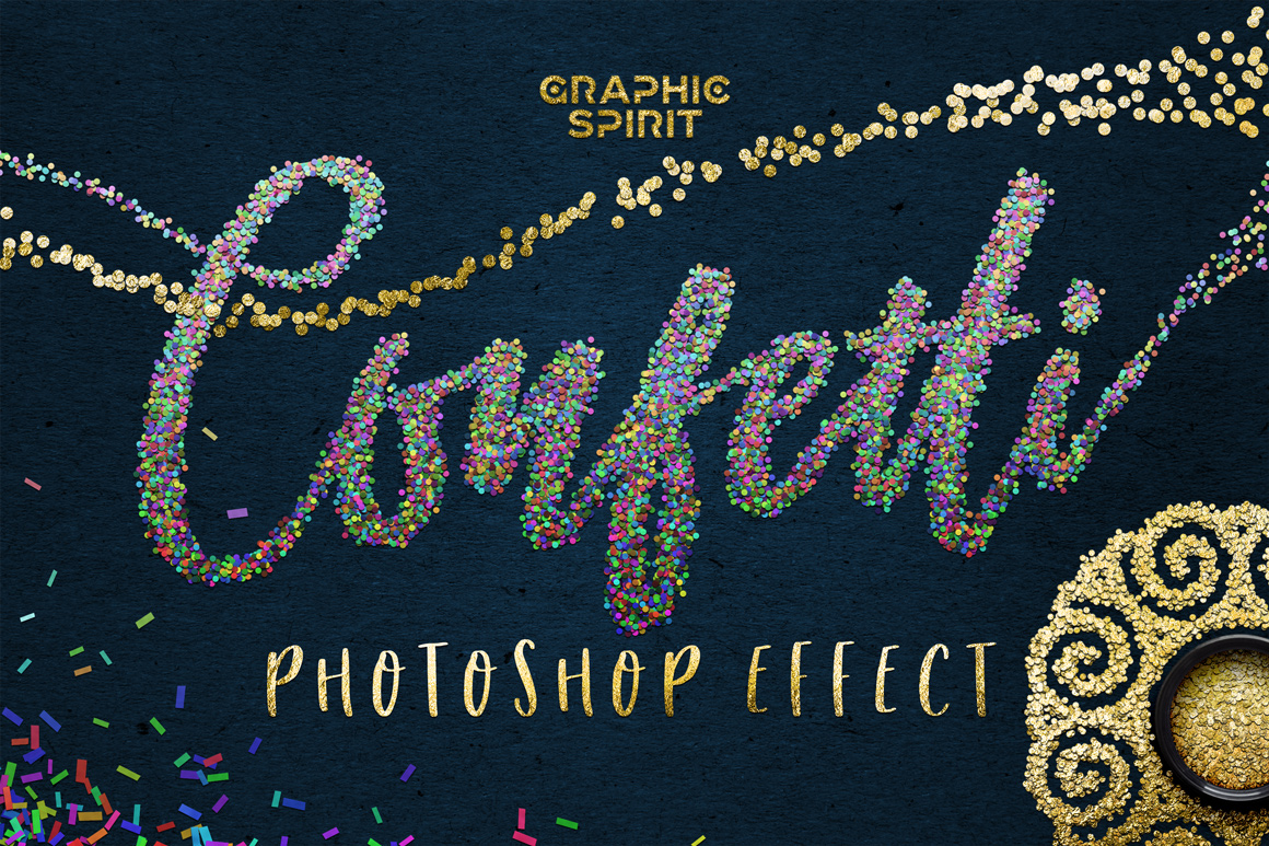 confetti effect for adobe photoshop