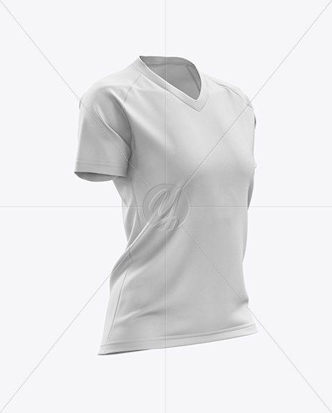 Women's MTB Trail Jersey mockup (Half Side View)