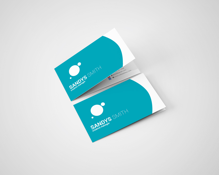 Folded Business Card Mock Ups ID 35035 In Product Mockups 1 0