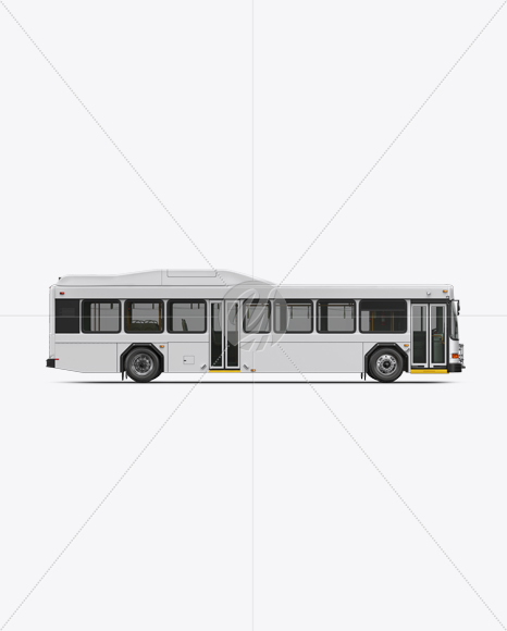 Hybrid Bus Mockup - Side View