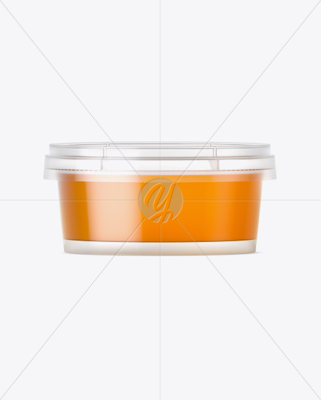Container with Honey Mockup