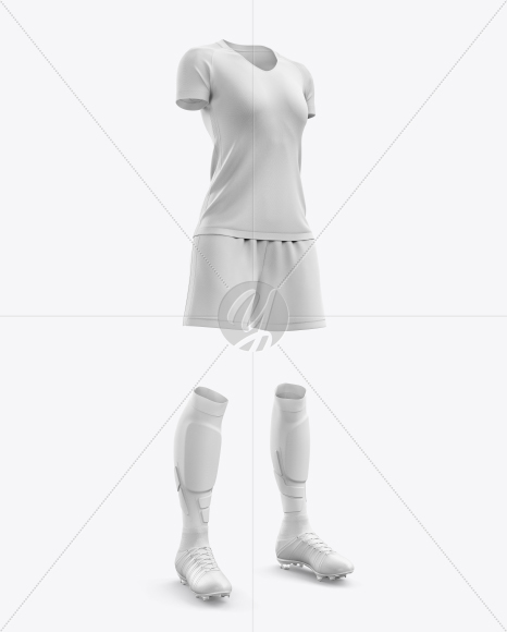 Women's Full Soccer Kit mockup (Hero Shot)