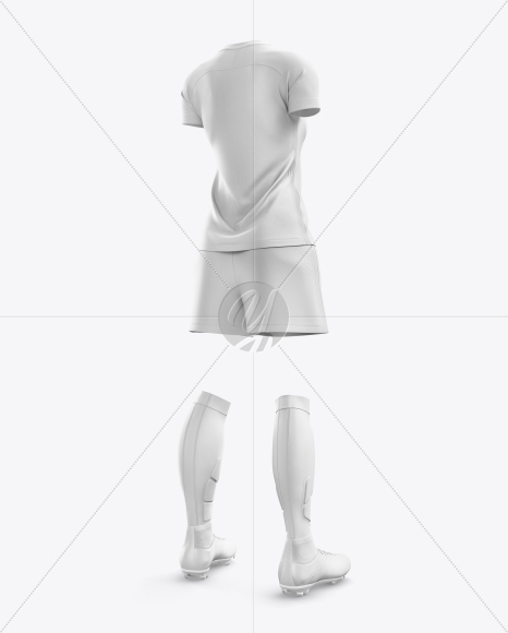 Women's Full Soccer Kit mockup (Hero Back Shot)