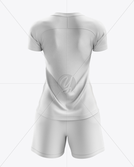 Women's Soccer Kit mockup (Back View)