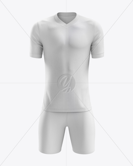 Men's Soccer V-Neck Kit mockup (Front View)
