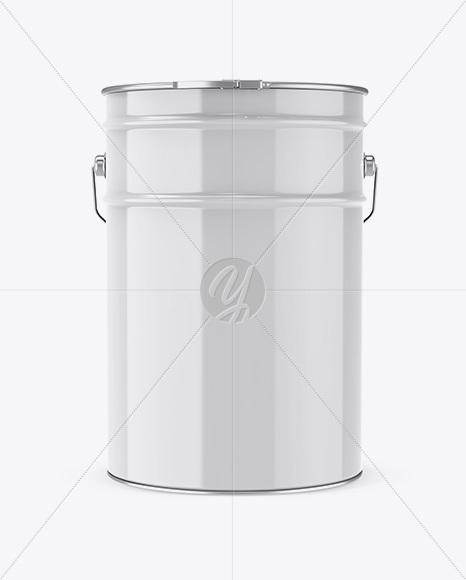 20L Glossy Paint Bucket Mockup