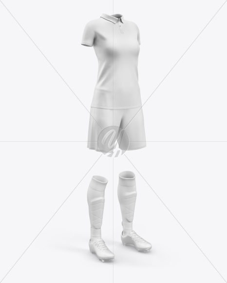 Women`s Full Soccer Kit Mockup