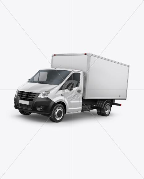 Box Truck Mockup - Left Half Side View