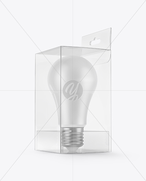 LED Bulb in Box Mockup