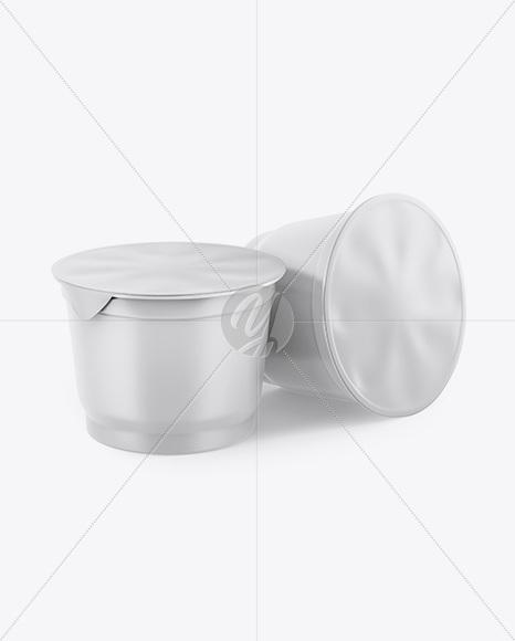 Matte Plastic Cups Mockup
