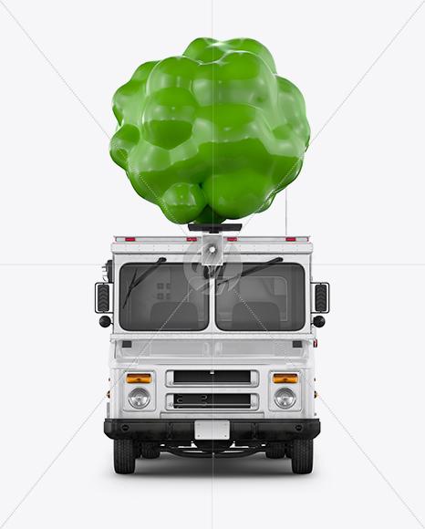 Vegan Food Truck Mockup - Front View