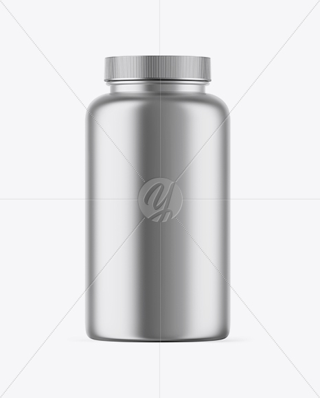Metallic Plastic Bottle Mockup