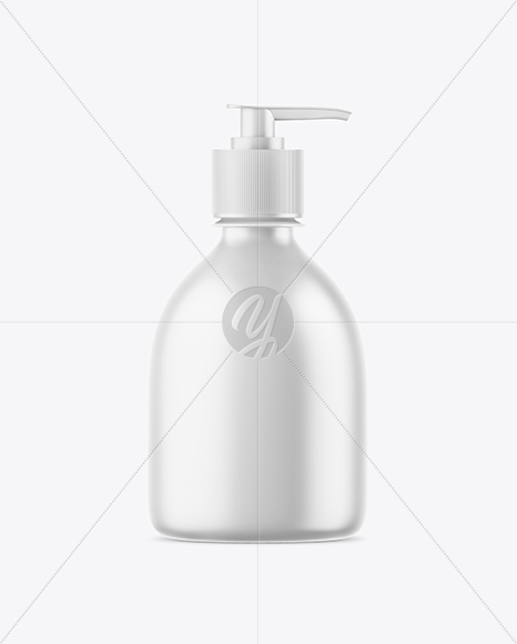 Matte Liquid Soap Bottle Mockup
