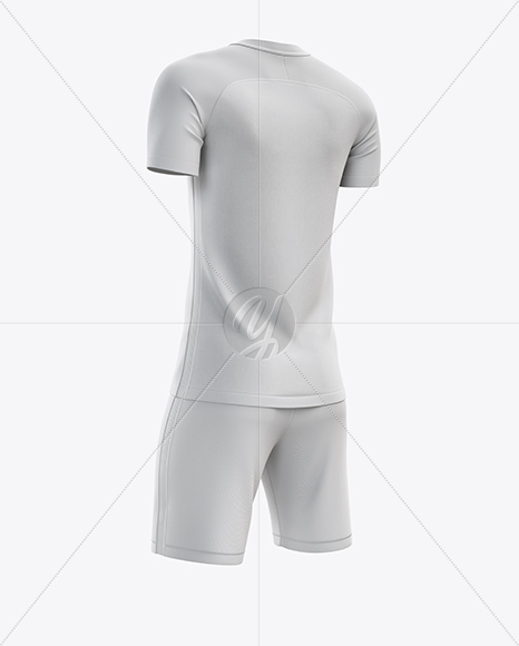 Men's Soccer Kit mockup (Back Half Side View)