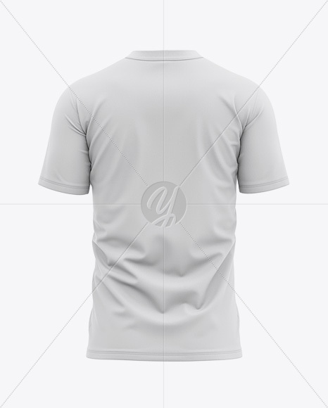 Men's Tight Round Collar T-Shirt - Back View