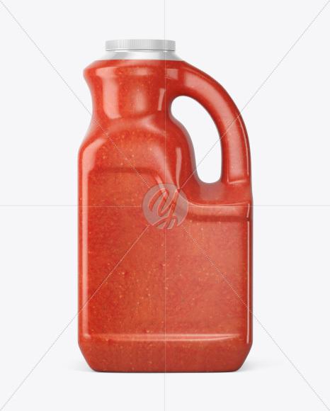 Plastic Jug w/ Sweet Chilli Sauce Mockup