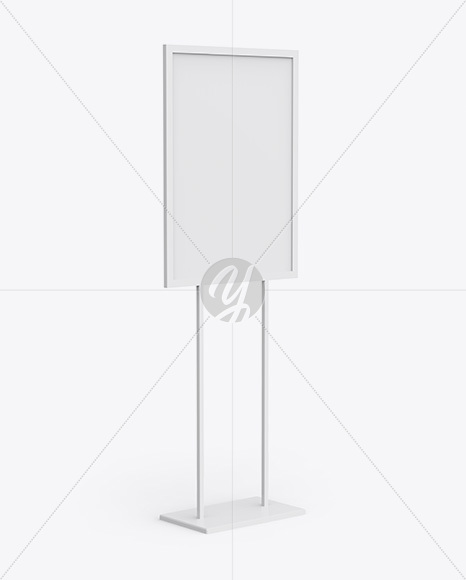 A1 Display Stand Mockup - Half Side View