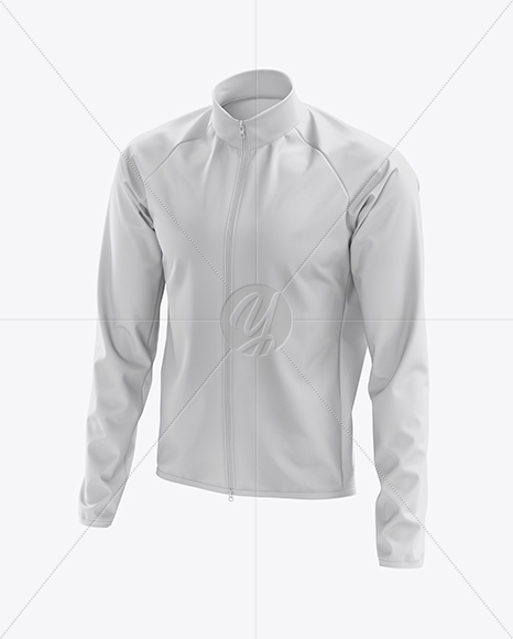 Men's Cycling Wind Jacket mockup (Half Side View)
