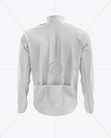 Men's Cycling Wind Jacket mockup (Back View)