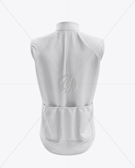 Men's Cycling Wind Vest mockup (Back View)