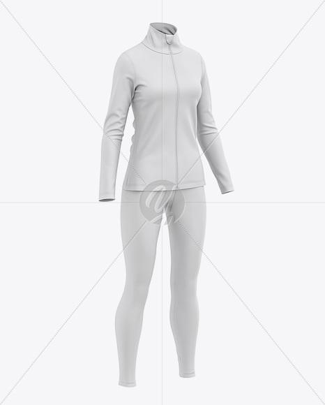 Women's Sports Kit Mockup - Front Half-Side View