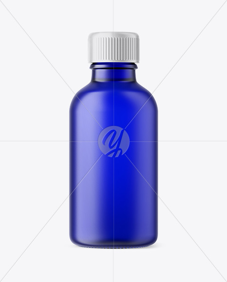 50ml Frosted Blue Glass Сosmetic Bottle