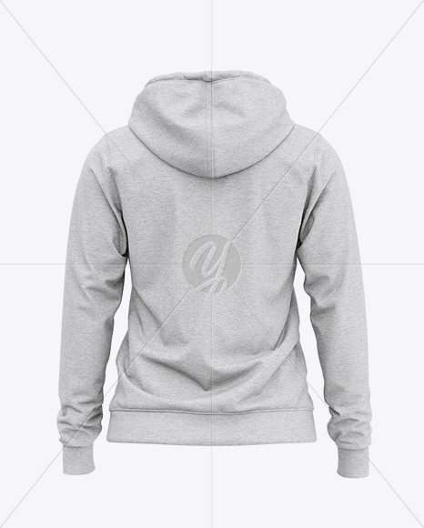 Women's Heather Full-Zip Hoodie - Back View