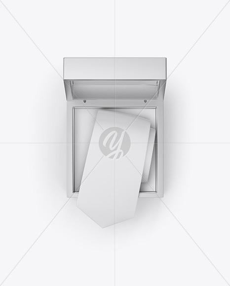 Metallic Box w/ Tie Mockup