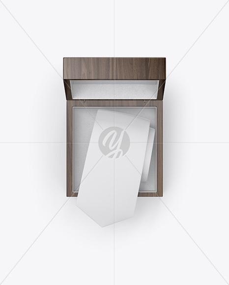 Wooden Box w/ Tie Mockup
