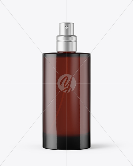 Dark Glass Perfume Bottle Mockup