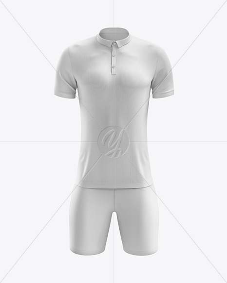 Men's Soccer Polo Kit mockup (Front View)